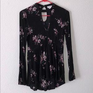 long sleeve flower dress